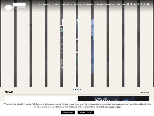 Screenshot von www.bluenote.com