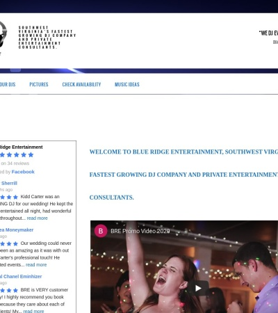 Screenshot of www.blueridgeentertainment.net