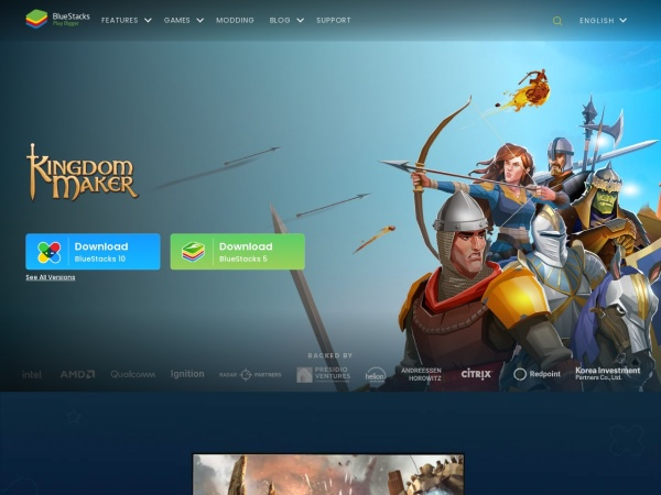 Screenshot of www.bluestacks.com