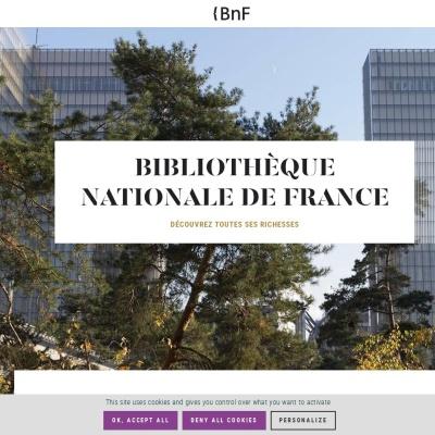Screenshot of www.bnf.fr