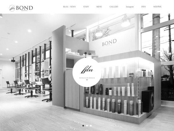 Screenshot of www.bondhairdesign.jp