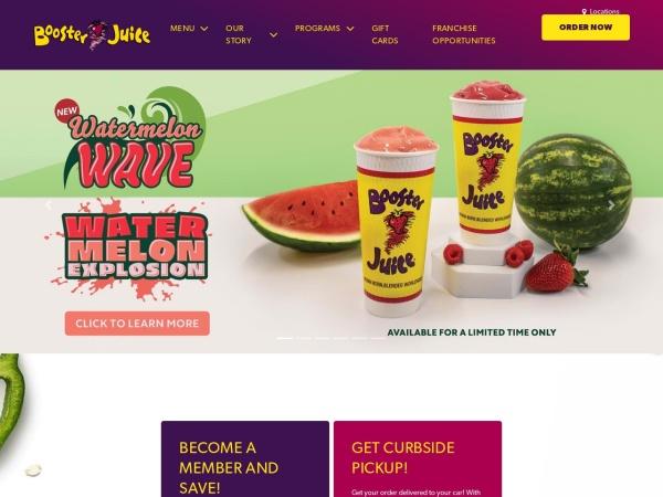 Screenshot of www.boosterjuice.com
