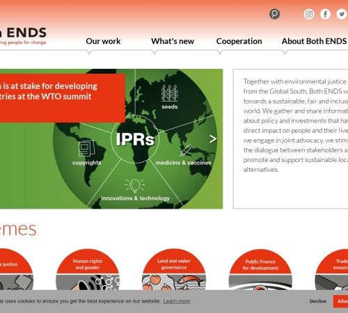 Screenshot of www.bothends.org