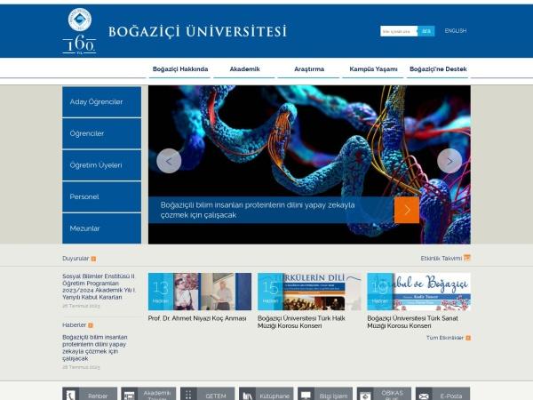 Screenshot of www.boun.edu.tr