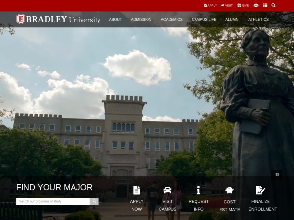 Screenshot of www.bradley.edu