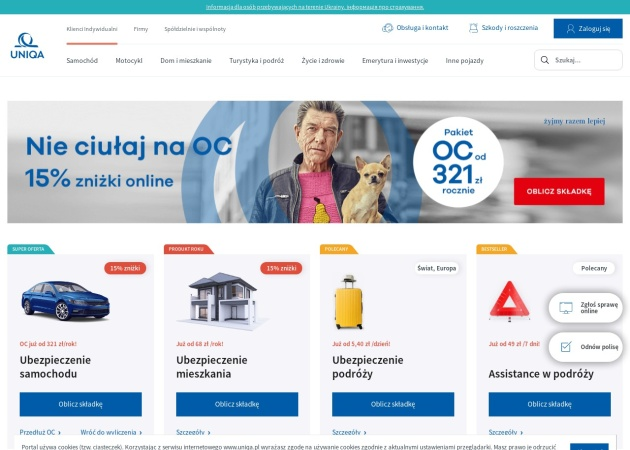 Screenshot of www.breubezpieczenia.pl