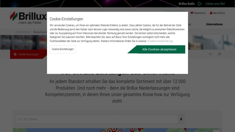 Screenshot of www.brillux.de