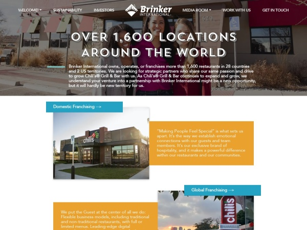 Screenshot of www.brinker.com
