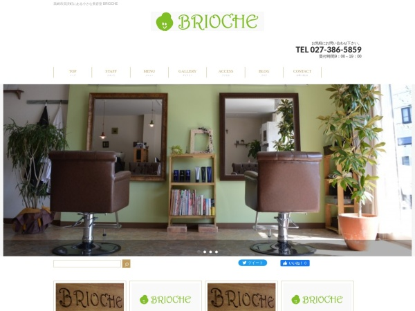 Screenshot of www.brioche-hair.com