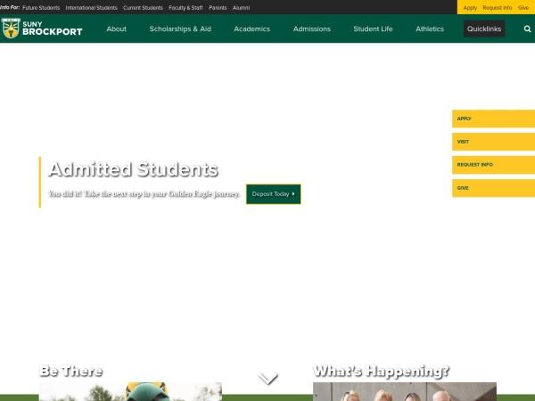 Screenshot of www.brockport.edu