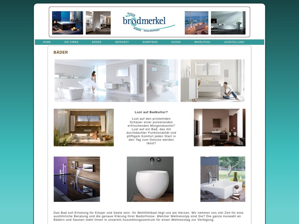 Screenshot of www.brodmerkel-baeder.de