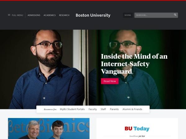 Screenshot of www.bu.edu