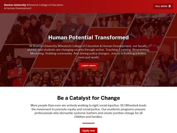 Screenshot of www.bu.edu