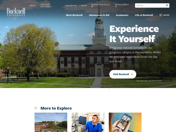 Screenshot of www.bucknell.edu