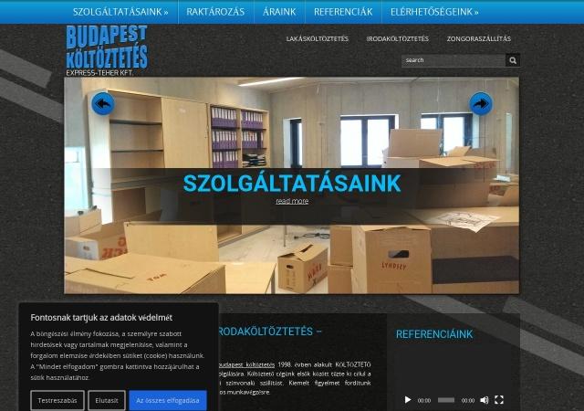 Screenshot of www.budapest-költöztetés.hu