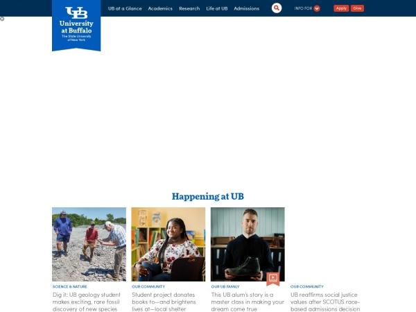 Screenshot of www.buffalo.edu