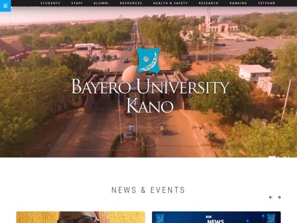 Screenshot of www.buk.edu.ng