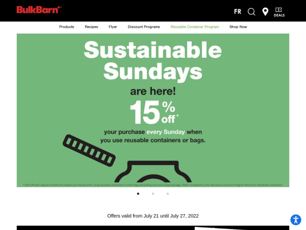 Screenshot of www.bulkbarn.ca