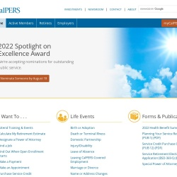 Screenshot of www.calpers.ca.gov