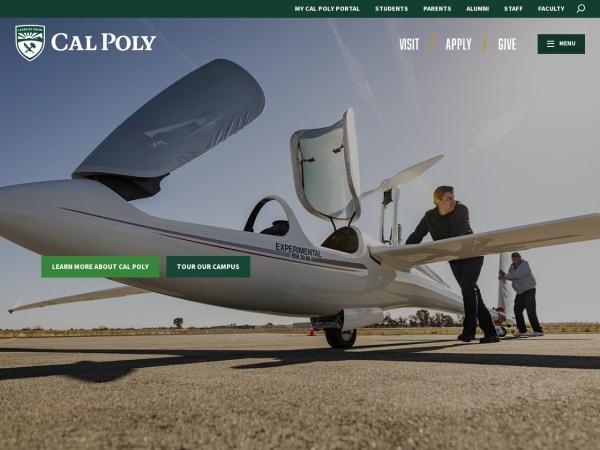 Screenshot of www.calpoly.edu
