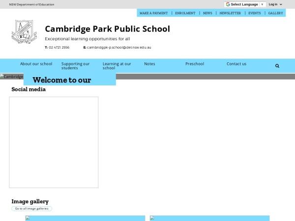Screenshot of www.cambridgpk-p.schools.nsw.edu.au