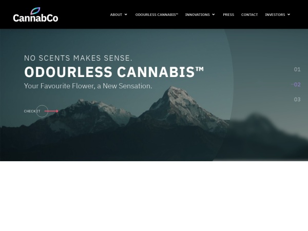 Screenshot of www.cannabco.ca