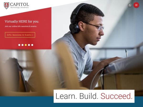 Screenshot of www.capitol-college.edu