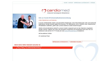 Screenshot of www.cardiomed.at