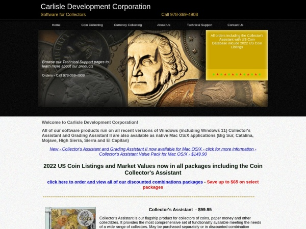 Screenshot of www.carlisledevelopment.com