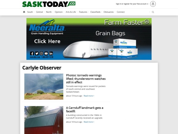 Screenshot of www.carlyleobserver.com