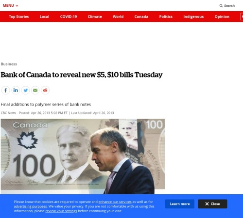 Screenshot of www.cbc.ca