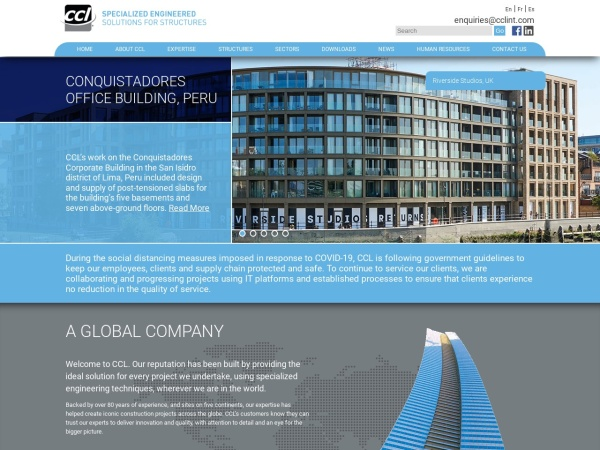 Screenshot of www.cclint.com