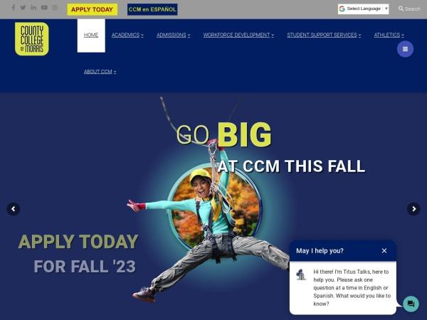 Screenshot of www.ccm.edu