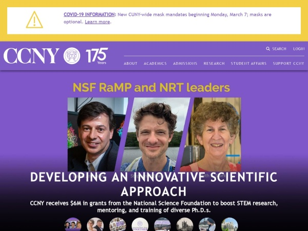 Screenshot of www.ccny.cuny.edu