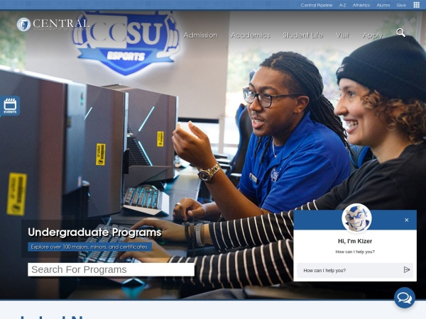 Screenshot of www.ccsu.edu
