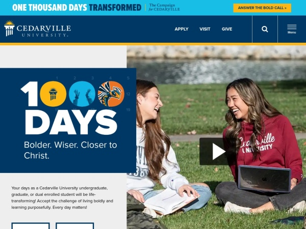 Screenshot of www.cedarville.edu