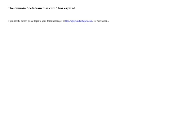 Screenshot of www.cefafranchise.com