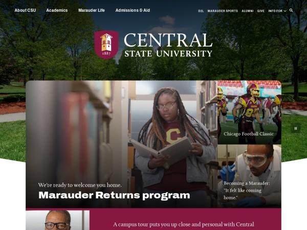 Screenshot of www.centralstate.edu