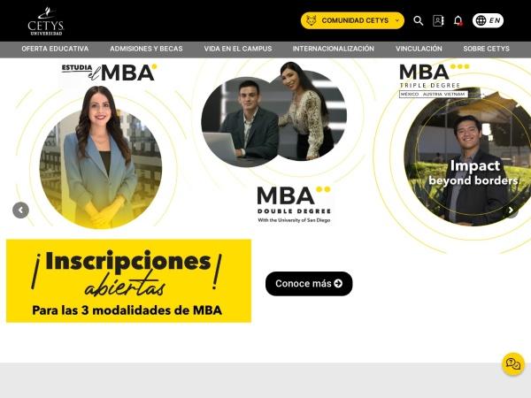 Screenshot of www.cetys.mx