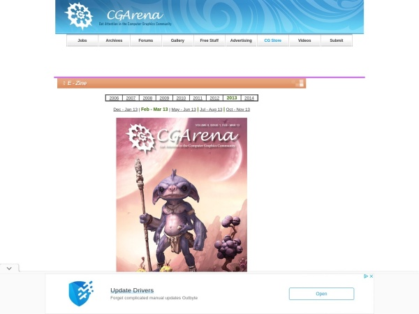 Screenshot of www.cgarena.com