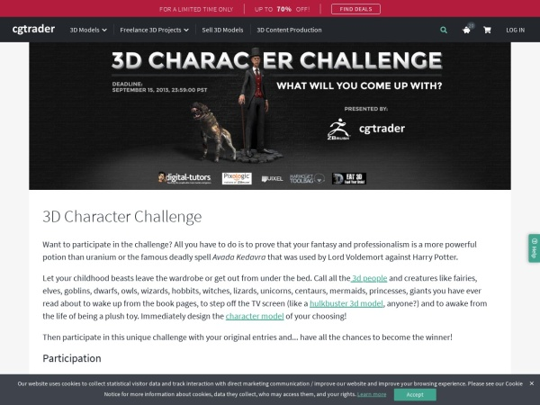 http://www.cgtrader.com/challenges-and-competitions/3d-character-challenge
