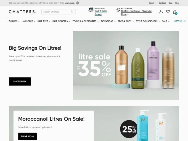 Screenshot of www.chatters.ca