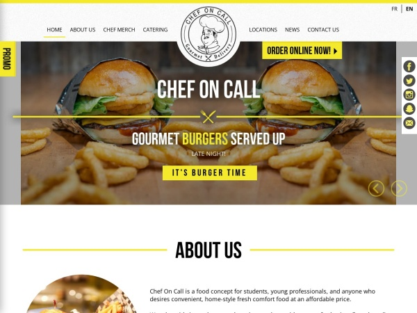 Screenshot of www.chefoncalldelivery.com