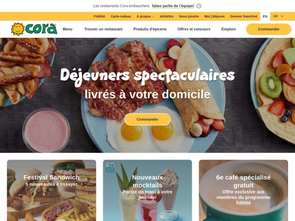 Screenshot of www.chezcora.com
