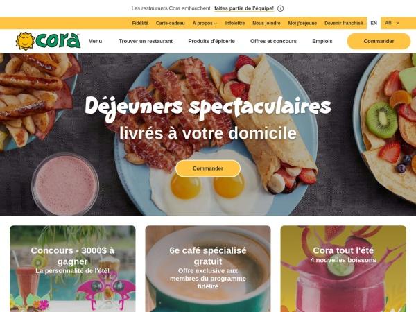Screenshot of www.chezcora.com