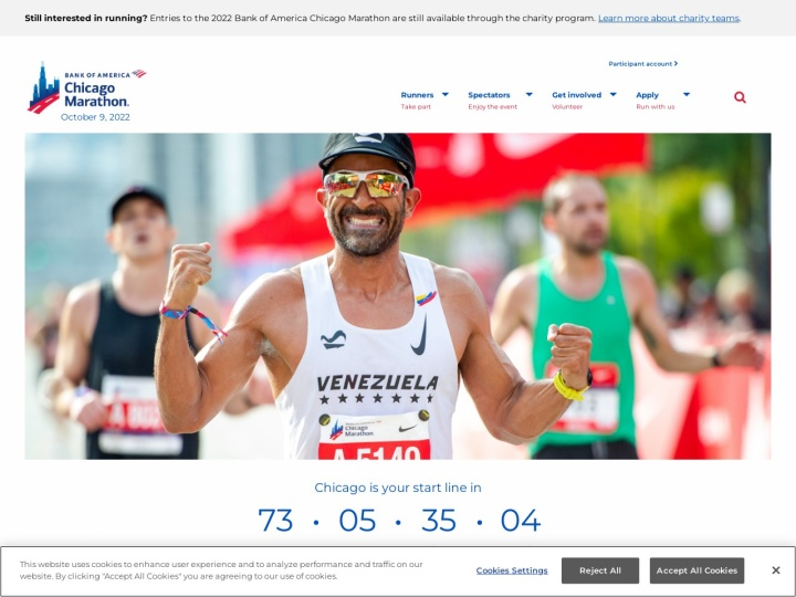 There is no page preview available for BANK OF AMERICA CHICAGO MARATHON 2017 at this moment. Please try again later.