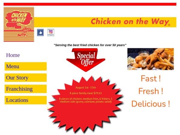 Screenshot of www.chickenontheway.com