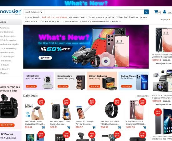 Screenshot of www.chinavasion.com