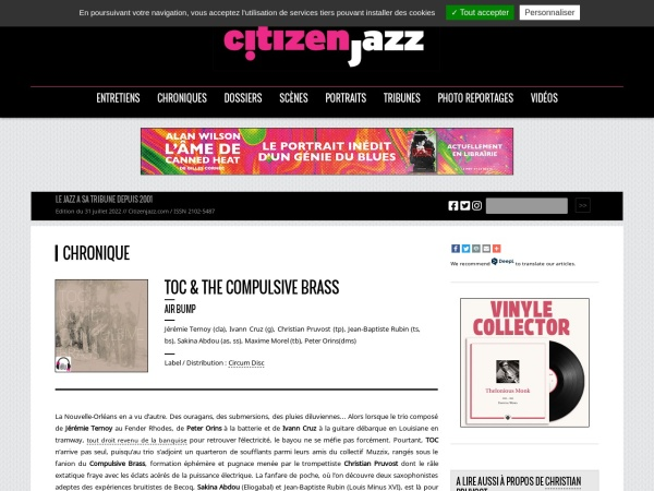 http://www.citizenjazz.com/TOC-The-Compulsive-Brass.html