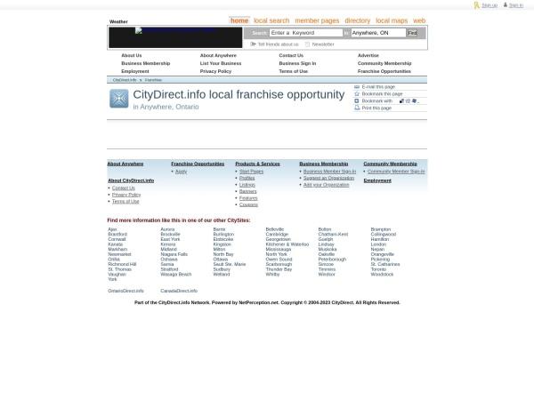 Screenshot of www.citydirect.info